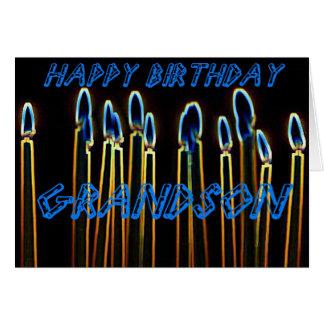Do feliz aniversario velas do cartão do neto