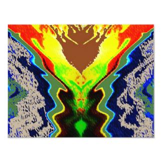 Do fogo vulcão espiritual dentro - convite 10.79 x 13.97cm