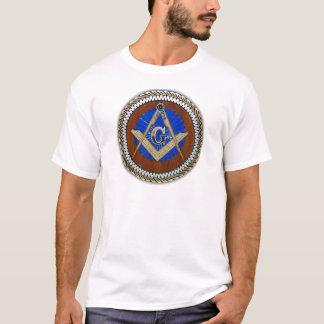 do freemason quadrado & compasso da conspiração camiseta