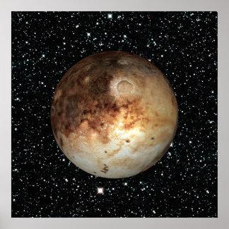 ~ do fundo da estrela de PLUTO do PLANETA (sistema Pôster