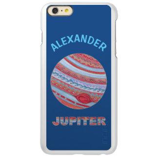 Do geek colorido do espaço de Jupiter do planeta Capa Incipio Feather® Shine Para iPhone 6 Plus