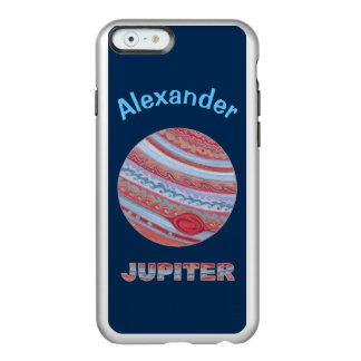 Do geek colorido do espaço de Jupiter do planeta Capa Incipio Feather® Shine Para iPhone 6