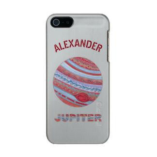 Do geek colorido do espaço de Jupiter do planeta Capa Incipio Feather® Shine Para iPhone 5