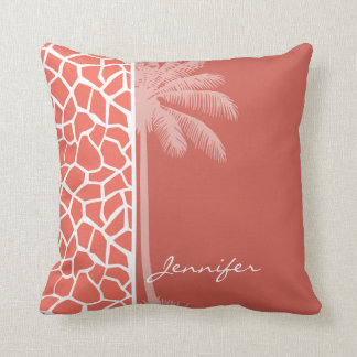 Do girafa agridoce da cor da palma do verão travesseiros