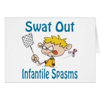 Do golpe cartão dos Infantil-Espasmos para fora