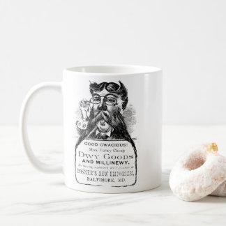 Do homem caneca de café impar para fora