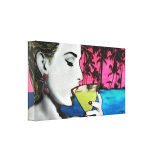 """Do """"hora cocktail"""" em umas canvas esticadas impressão em tela"""