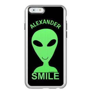 Do humor feliz do geek da alienígena LGM do Capa Incipio Feather® Shine Para iPhone 6