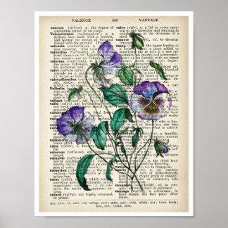 Do impressão botânico da arte do vintage poster