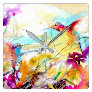 """Do """"impressão do colibri do namorico campo"""" relógios de pendurar"""