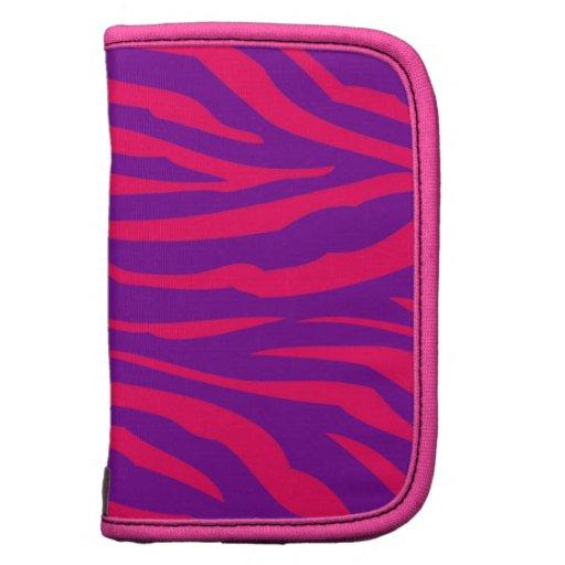 Do impressão roxo da zebra do rosa quente exemplo  organizadores