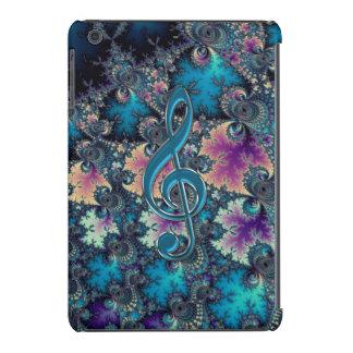 Do iPad metálico do Clef da música dos azuis do Capa Para iPad Mini Retina