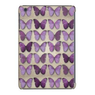 Do iPad roxo das borboletas do vintage caixa do Capa Para iPad Mini Retina
