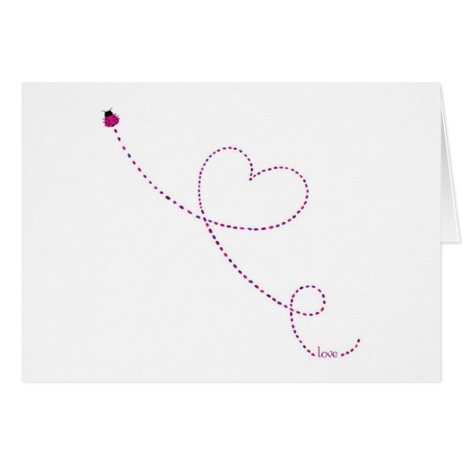 """Do """"joaninha do inseto amor"""" cartão"""