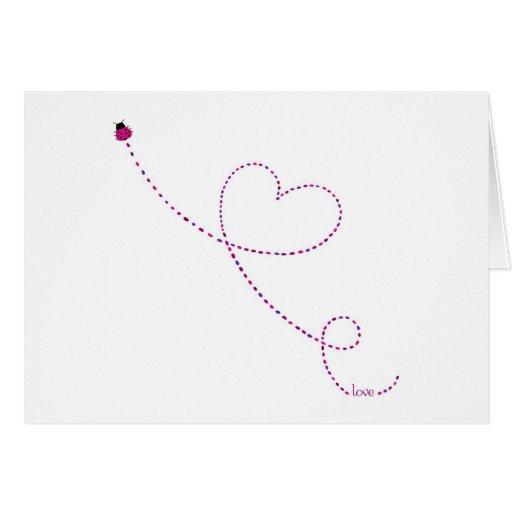 """Do """"joaninha do inseto amor"""" cartão comemorativo"""