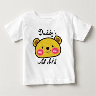 Do leopardo selvagem da criança do pai camiseta