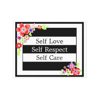"""Do """"lona floral lindo do amor auto"""" impressão em tela"""