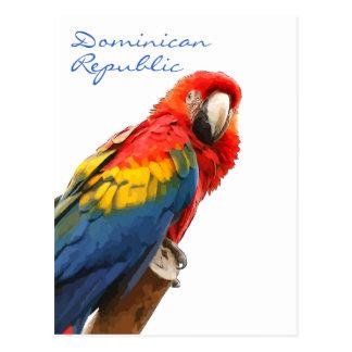 Do Macaw escarlate do cartão da República