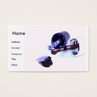 Do manicuro roxo dentro profundamente - cartão de visitas