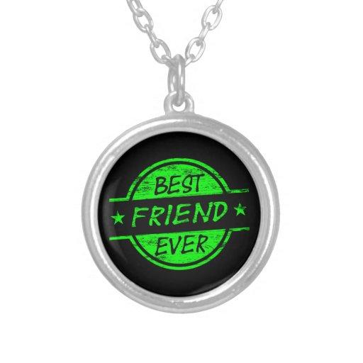 Do melhor amigo verde nunca bijuterias personalizadas