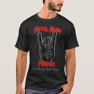 Do metal da cabeça t-shirt para sempre camiseta