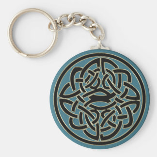 Do metal preto do ouro de turquesa chaveiro celta