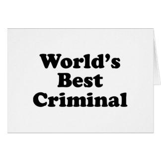 Do mundo o criminoso melhor cartão