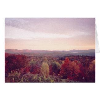"""Do """"névoa amanhecer, o 15 de outubro de 2008 """" cartão"""
