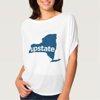 do norte do estado. T do mapa de New York do fluxo Camiseta