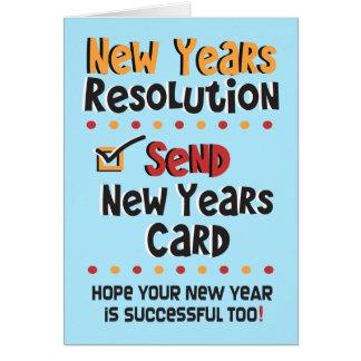 Do © o ano novo engraçado de cartão de nota - as