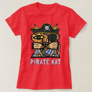 """Do """"O t-shirt das mulheres do Kat pirata"""" Camiseta"""