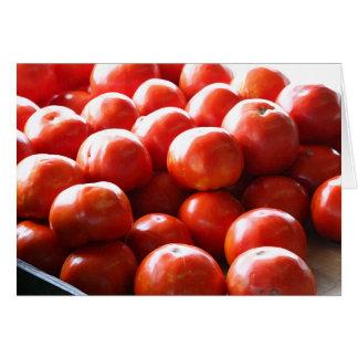 Do o toneladas do cartão dos tomates