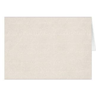 Do olhar de creme do pergaminho do vintage fundo cartão de nota