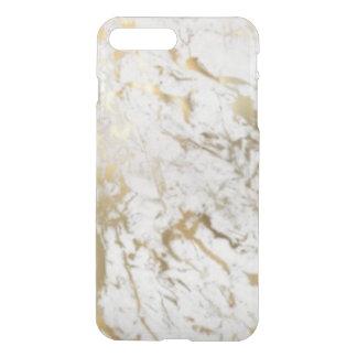 Do ouro do iPhone caixa do defletor claramente Capa iPhone 7 Plus