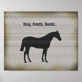 Do país equestre da arte do poster do cavalo decor