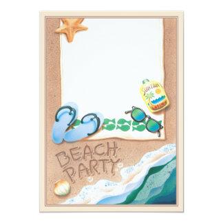 © do partido da praia convite 12.7 x 17.78cm