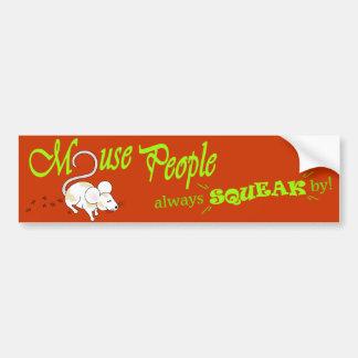 """Do """"pessoas rato"""" (texto verde) adesivo para carro"""