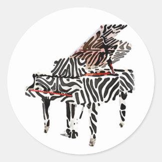 ~ do piano de cauda da zebra adesivo