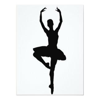~~ do PIROUETTE da BAILARINA (silhueta da dança do Convite 16.51 X 22.22cm