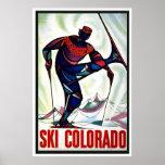 """Do """"poster das viagens vintage de Colorado esqui"""""""