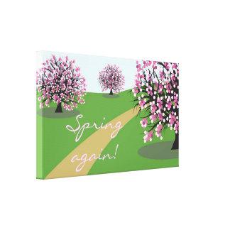 Do primavera poster das canvas outra vez impressão de canvas envolvida