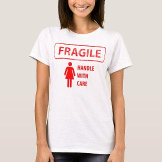 Do punho camisa frágil com cuidado T