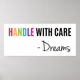 Do punho poster de inspiração super dos sonhos com