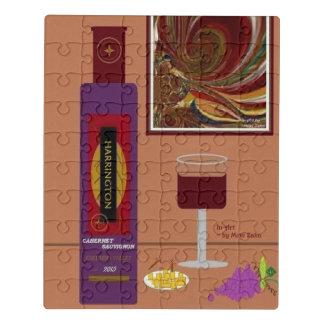 """Do """"quebra-cabeça acrílico w/Tin de 8x10 vinho e"""