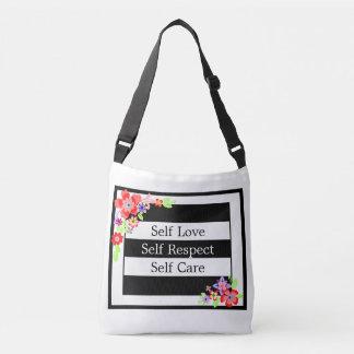 """Do """"saco de corpo transversal floral lindo do amor bolsa ajustável"""