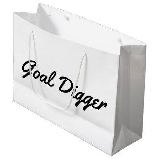 """Do """"saco do presente do escavador objetivo"""" sacola para presentes grande"""
