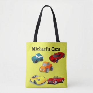 """Do """"saco dos carros brinquedo"""" da criança bolsas tote"""