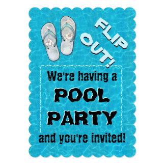 "Do ""sacudir convite da festa na piscina para fora"""