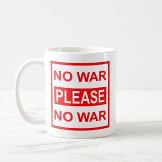 Do sem guerra caneca de café por favor -