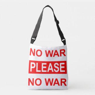 Do sem guerra sacola por favor - bolsa ajustável